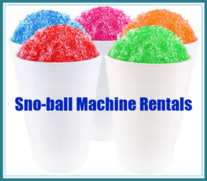 Sno-Ball Machine Rentals